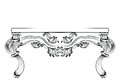 Rich Baroque Table. French Luxury carved ornaments decorated furniture. Vector Victorian Royal Style