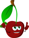 Rich cherry with attitude vector style illustrated vector format is available Royalty Free Stock Photography