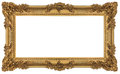 Rich Golden Baroque Frame Stock Photography