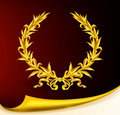 Rich golden wreath Stock Image