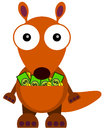 Rich kangaroo a funny illustration of a with money inside it s pocket Stock Photos