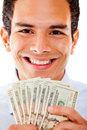 Rich man with dollars Royalty Free Stock Photo