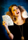 Rich woman Stock Photo
