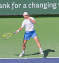 Richard GASQUET at the 2009 BNP Paribas Open Stock Photography