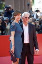 Richard Gere and wife CAREY LOWELL  Royalty Free Stock Photography