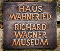 Richard wagner museum the close up of the sign on the gates to the in bayreuth germany Stock Image