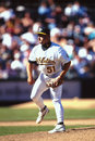 Richie lewis oakland a s former relief pitcher image taken from color slide Royalty Free Stock Image