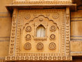 Richly decorated houses in india of merchants from the rajasthan state Royalty Free Stock Images
