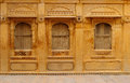 Richly decorated houses in india of merchants from the rajasthan state Royalty Free Stock Photos