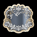 Richly decorated vintage baroque scroll design frame floral deco