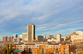Richmond virginia skyline on a winter morning Royalty Free Stock Photo