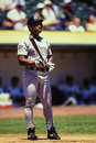 Rickey henderson san diego padres former outfielder and hall of famer image taken from color slide Stock Photo