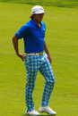 Rickie fowler at the memorial tournament in dublin ohio usa Royalty Free Stock Photos