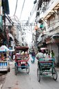 Rickshas in old part of New Delhi Stock Image