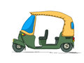 Rickshaw cartoon over white background Royalty Free Stock Photos