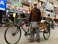 Rickshaw driver, India Royalty Free Stock Photo