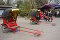 Rickshaw huanglong xi ancient town chengdu sichuan china Stock Photos
