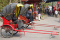 Rickshaw huanglong xi ancient town chengdu sichuan china Royalty Free Stock Images