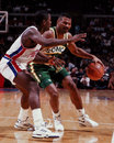 Ricky pierce seattle sonics shooting guard image taken from the color negative Stock Photo