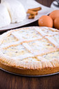 Ricotta cheese crostata. Stock Photography