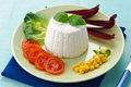 Ricotta cheese with vegetables Royalty Free Stock Photography