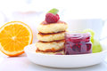 Ricotta pancakes syrniki cottage cheese pancakes fritters of cottage cheese traditional ukrainian and russian cuisine Stock Images