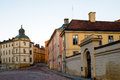 Riddarholmen buildings at in gamla stan stockholm Royalty Free Stock Photography