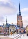 Riddarholmen Church in Stockholm, Sweden Royalty Free Stock Photo