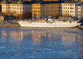 Riddarholmen stockholm in winter old white ship at Stock Images