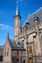 Ridderzaal of the binnenhof in den haag gothic architecture th century hall knights main building hague netherlands Stock Images