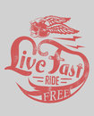 Ride free vector illustration ideal for printing on apparel clothes Stock Images