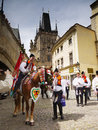 Prague - Ride Of The Kings, Cultural Ceremonial Royalty Free Stock Photo