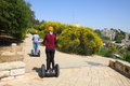 Ride on Segway - a modern transport Royalty Free Stock Images
