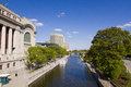 Rideau canal in downtown ottawa down town canada Stock Photo