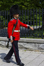 Rideau hall ceremonial guard walking Royalty Free Stock Images