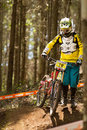 Rider at Greg Minaar Racing and Mongoose Downhill Stock Photography