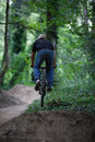 Rider jumping a bike Royalty Free Stock Photo