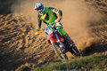 Rider during motocross race Royalty Free Stock Photo