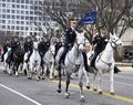 Riders of the caisson platoon washington d c – march participates saint patrick s day parade march in washington d c Stock Images