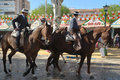 Riders at the fair in Seville Royalty Free Stock Images