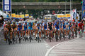 Riders at the start-finish line. Royalty Free Stock Photos