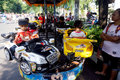 Rides children were enjoying in a public space in the city of solo central java indonesia Royalty Free Stock Photo