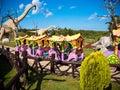 Rides at Dinosaurs Park, Leba, Poland Royalty Free Stock Photo
