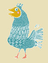 Ridiculous birdie vector the cheerful and positive never longs Royalty Free Stock Photos