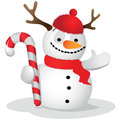 Ridiculous snowman Royalty Free Stock Photography