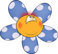 Ridiculous soft toy the sun a flower Royalty Free Stock Photography