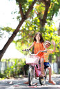 Riding bicycle outdoor Royalty Free Stock Photography