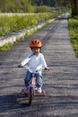 Riding bike in a park Royalty Free Stock Photo