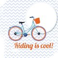 Riding is cool retro bicycle poster vector illustration Royalty Free Stock Photography