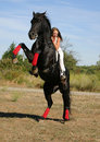 Riding girl Royalty Free Stock Images